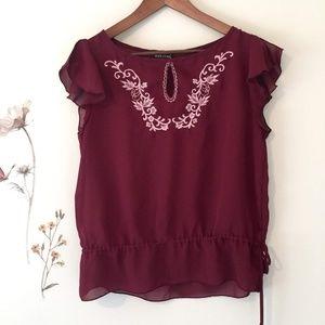 Embroidered Boho Blouse sz L